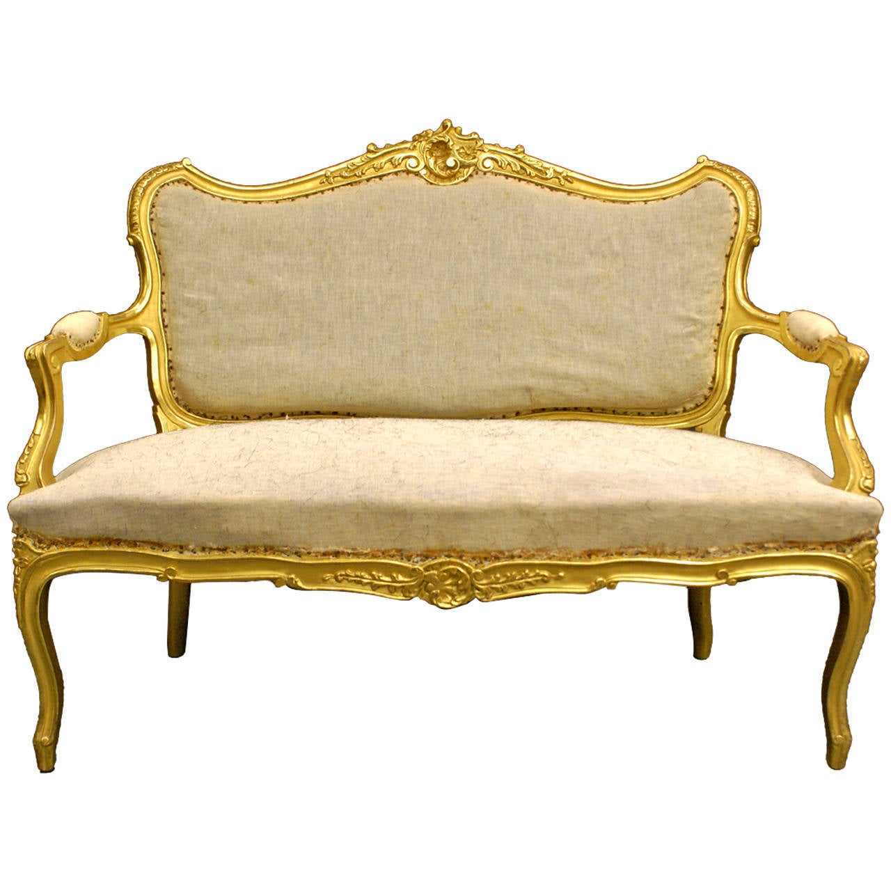 A Highly Decorative Venetian Carved Gilt Wood Sofa At 1stdibs
