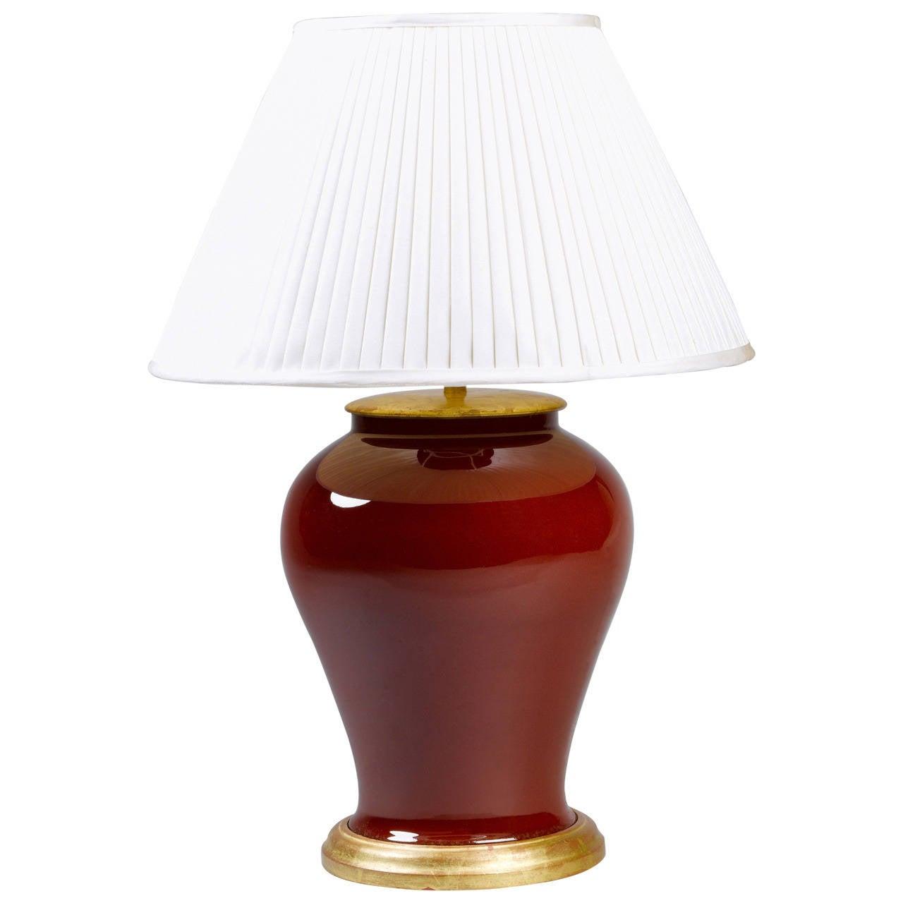 Sang De Boeuf Temple Jar Lamp