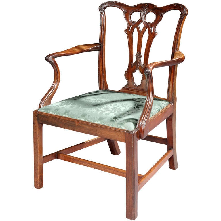 a finely carved george iii chippendale period armchair for. Black Bedroom Furniture Sets. Home Design Ideas