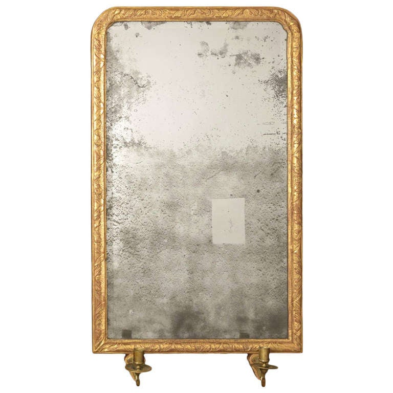 Queen Anne Gilt Mirror For Sale