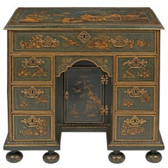Queen Anne Japanned Kneehole Desk