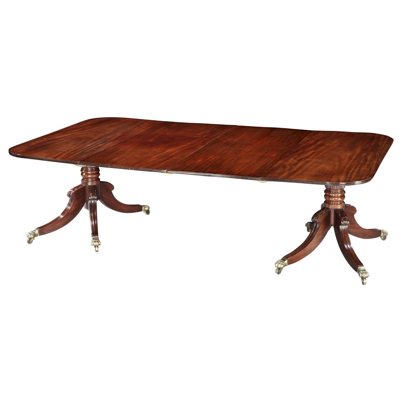 Very Fine Regency Mahogany Dining Table For Sale At 1stdibs
