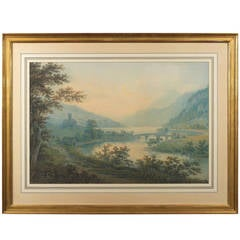 19th Century Watercolour of a Scottish Landscape by Grecian Williams