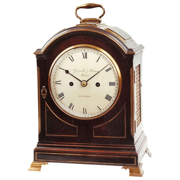Small Antique Bracket Clock By Grimalde And Johnson