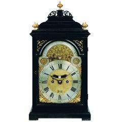 Georgian ebonized bracket clock by William Scafe, London