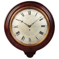 George III Wall Clock by John Leroux, Charing Cross, London