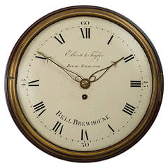 Antique Mahogany Wall Clock by Ellicott & Taylor, London