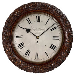 Victorian Antique Oak Cased Wall Clock by Lund & Blockley, London