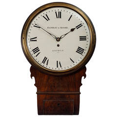 Antique Mahogany Drop Dial Timepiece by Handley & Moore, London