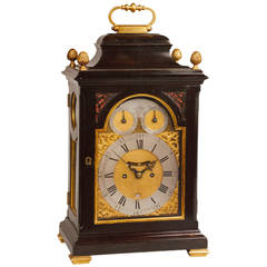 George III Period Ebonized Striking Bracket Clock by William Allam, London