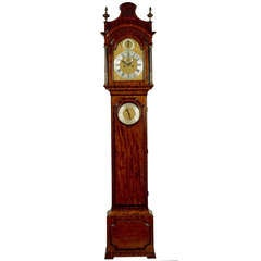 Antique Longcase Clock with Inset Barometer by Richard Peckover, London