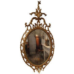 Chippendale Period Carved Wood and Gilt Mirror