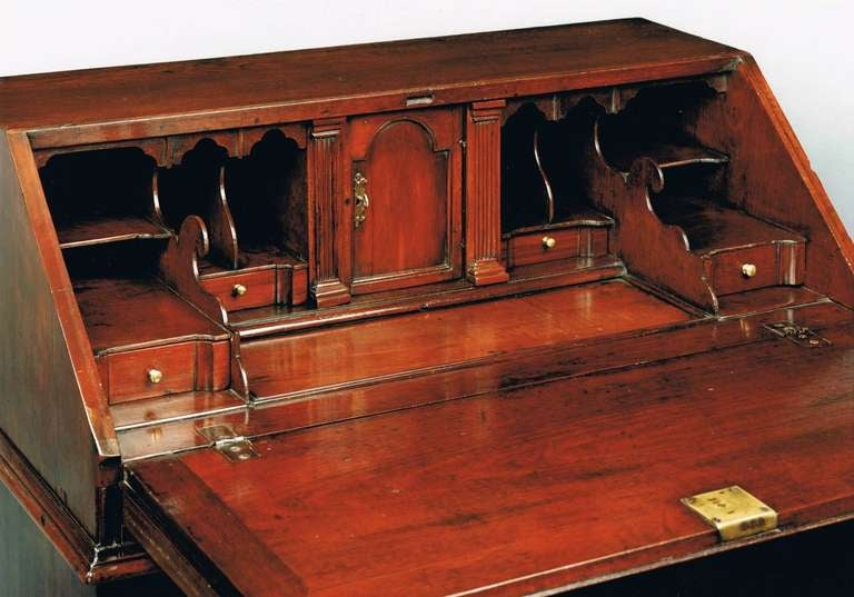 George II figured walnut bureau