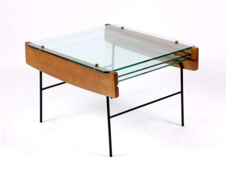 Andre monpoix coffee table with three removable glass for Coffee table with removable glass top