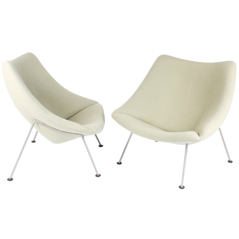 pair of armchairs oyster by pierre paulin 1964 at 1stdibs. Black Bedroom Furniture Sets. Home Design Ideas