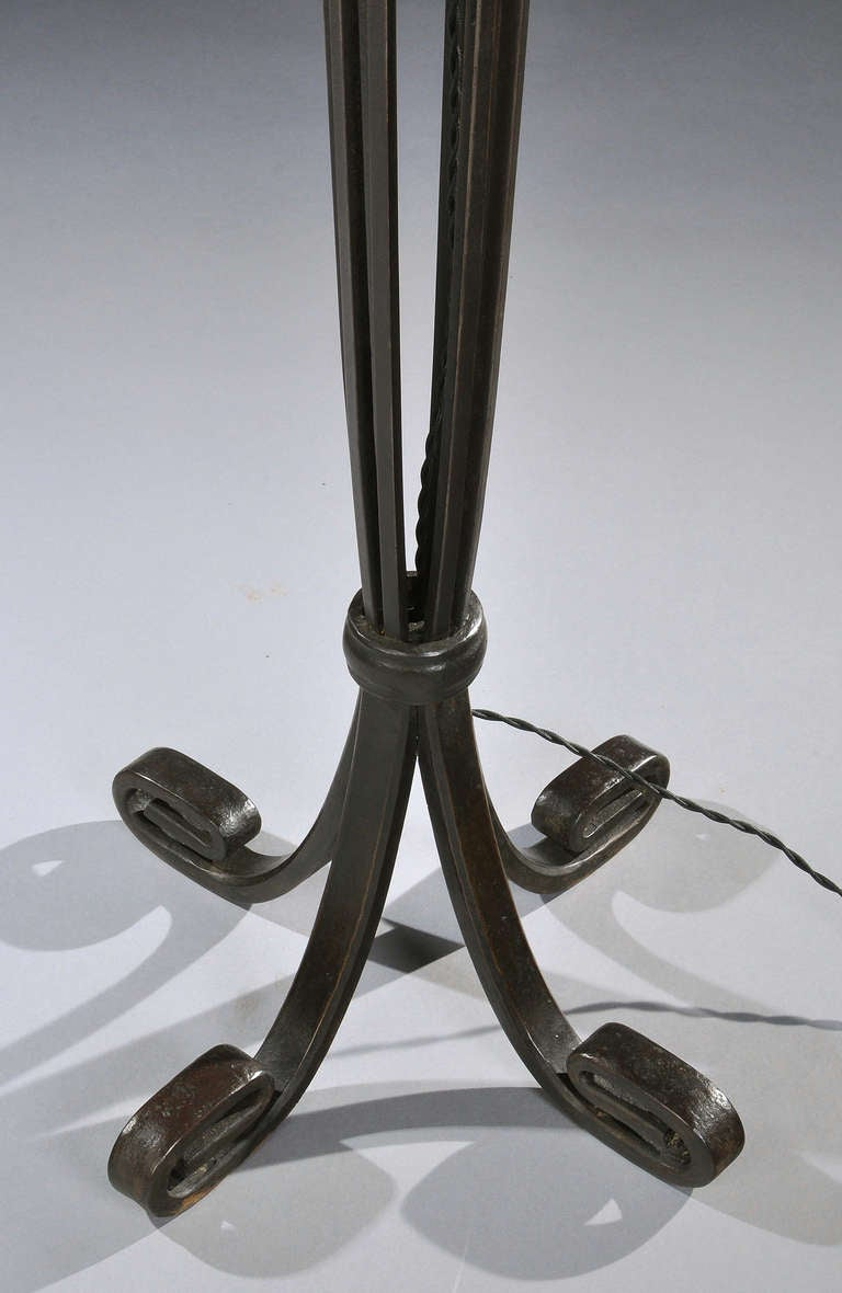 edgar brandt wrought iron floor lamp ca 1925 at 1stdibs. Black Bedroom Furniture Sets. Home Design Ideas