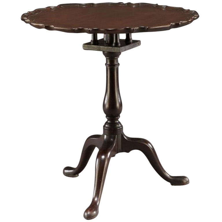 George II Mahogany Piecrust Tilt-Top Table