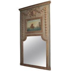 Trumeau Mirror with Medallion & Garland Swag