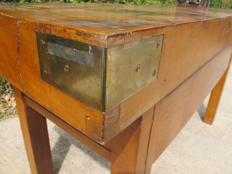 butchers block table for sale images