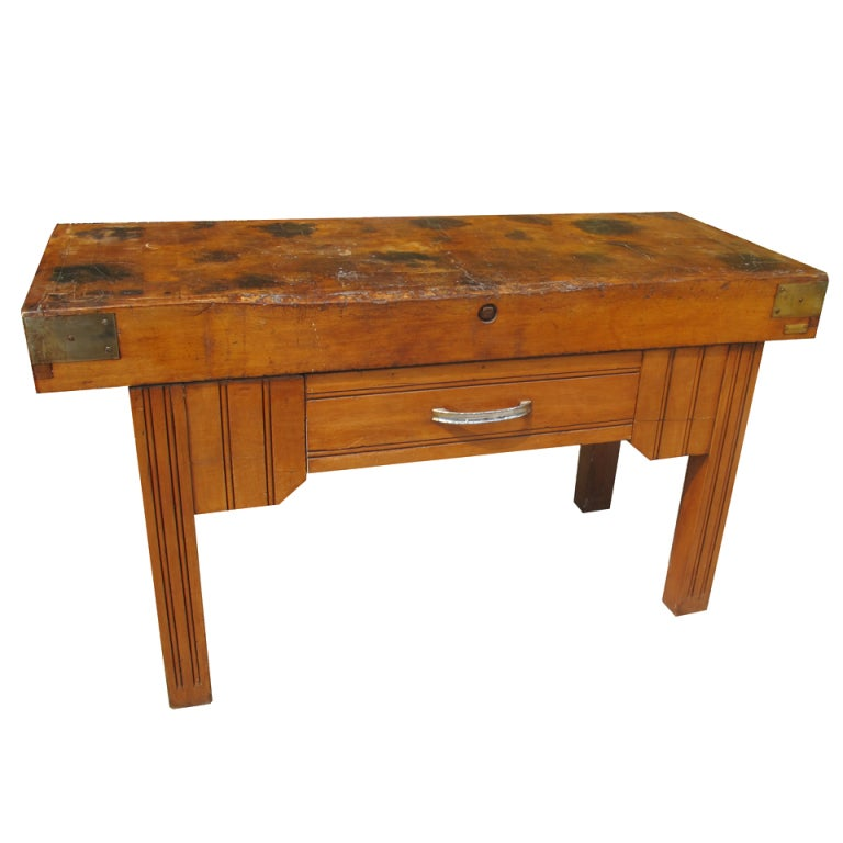 antique french butcher block table at 1stdibs