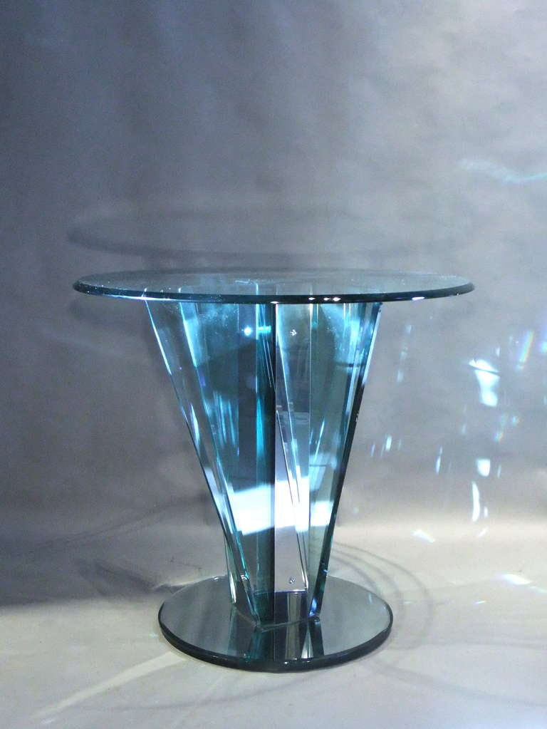 Glass Center Table at 1stdibs