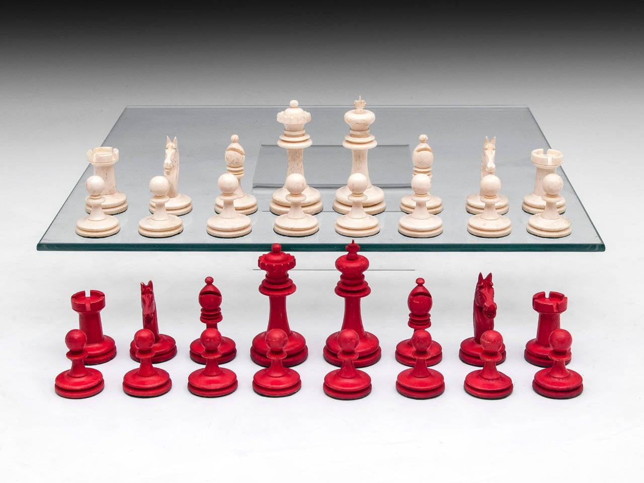 Antique Chess Set At 1stdibs