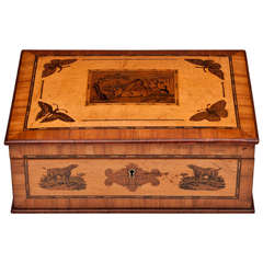 French Tunbridge Style Bird's-Eye Maple Box