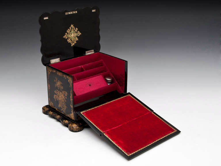 Papier Mache Writing Box At 1stdibs