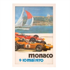 Original Monaco Grand Prix Motor Racing Advertising Poster