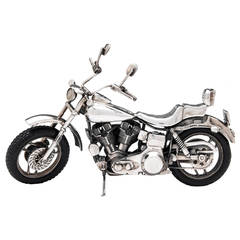 Sterling Silver Harley Davidson Motorcycle