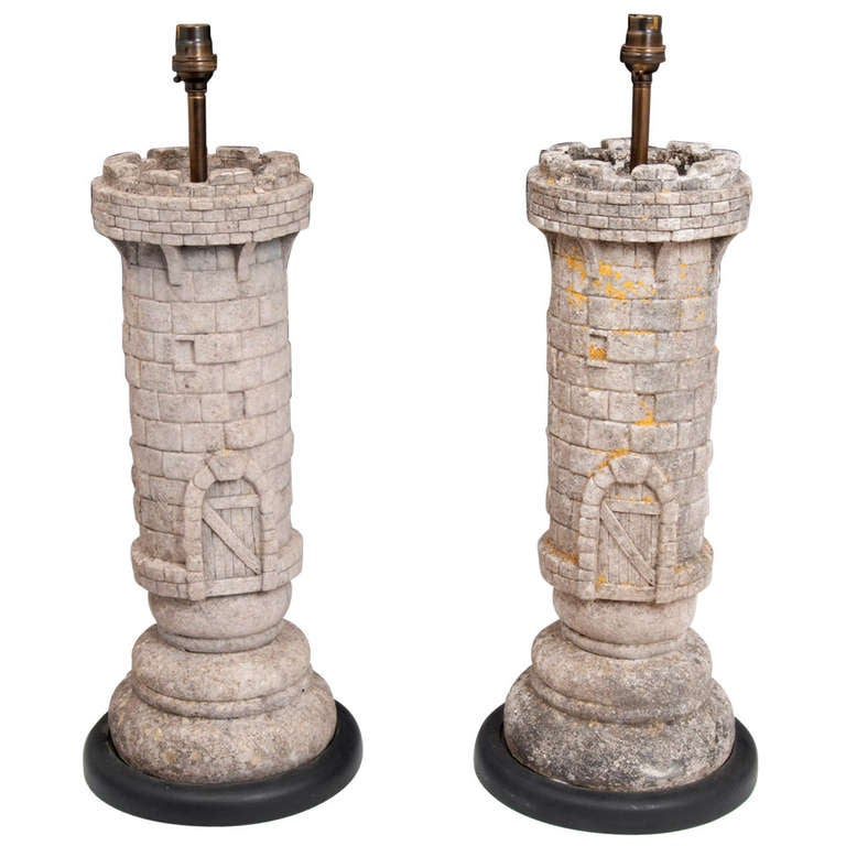 Rook Chess Piece Lamps