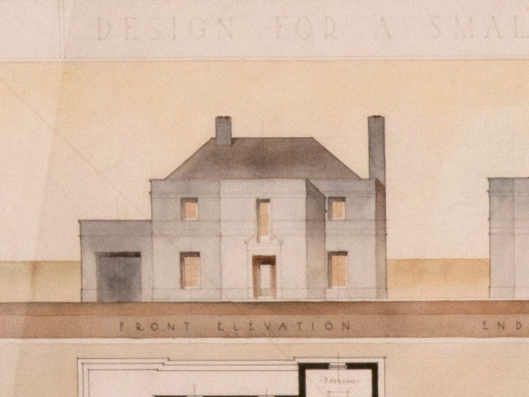 1930 Architectural Drawing For Sale At 1stdibs