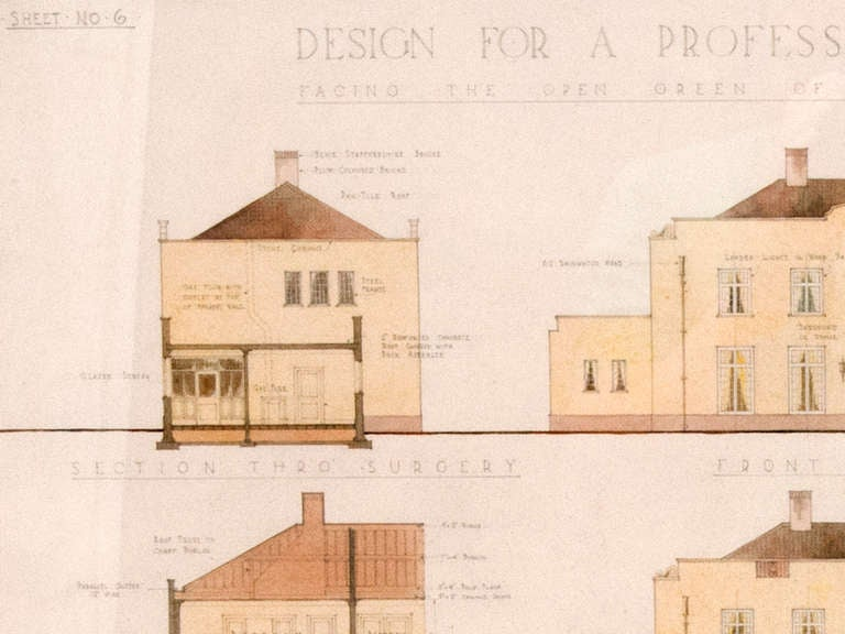 architectural drawings for sale at 1stdibs