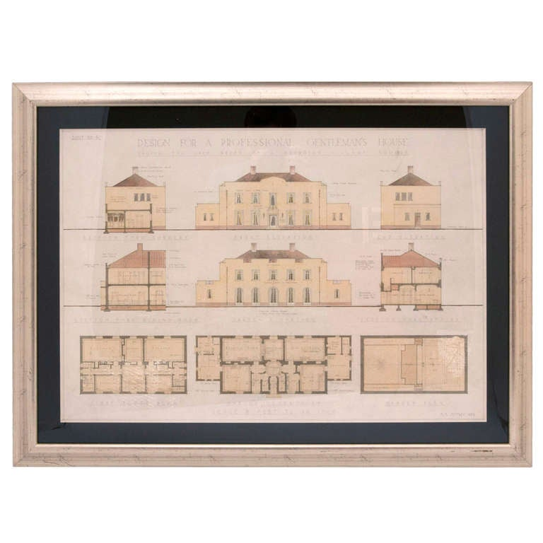 Architectural drawings for sale at 1stdibs for Cheap architectural drawings