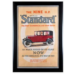 1930s Original Advertising Poster Standard Motor Company