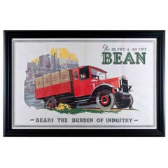 1930s Original Bean 25 CWT Advertising Poster