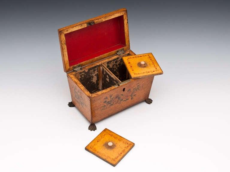 Antique Penwork Tea Caddy 4