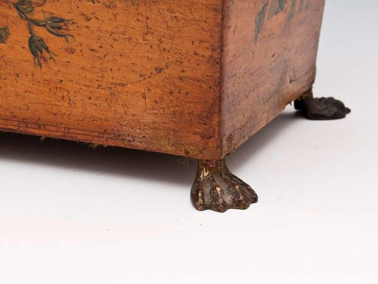 Bone Antique Penwork Tea Caddy
