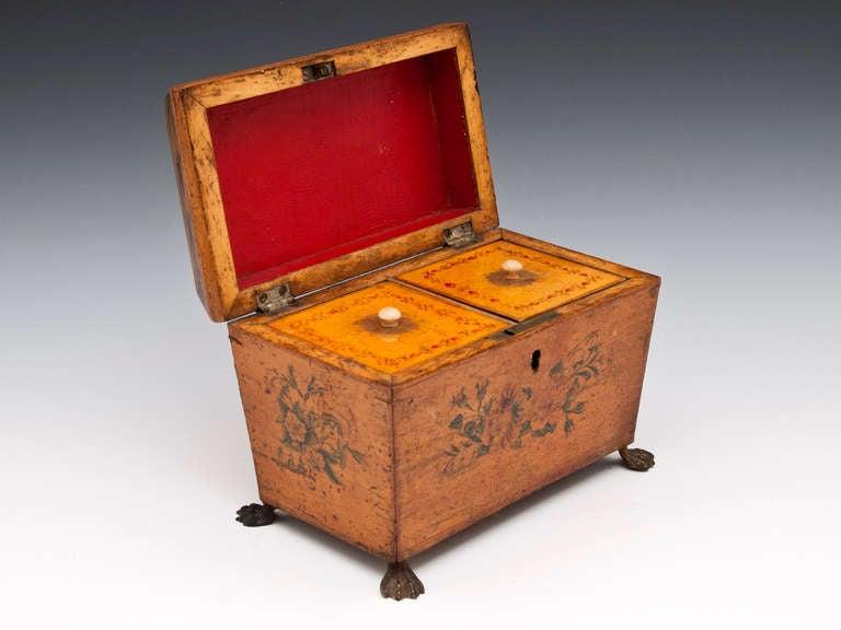 Antique Penwork Tea Caddy 3