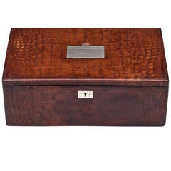 Asprey Crocodile Skin Cigar Box