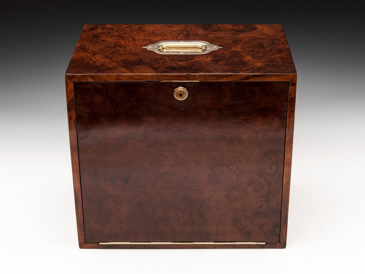 Burr walnut stationery box at stdibs
