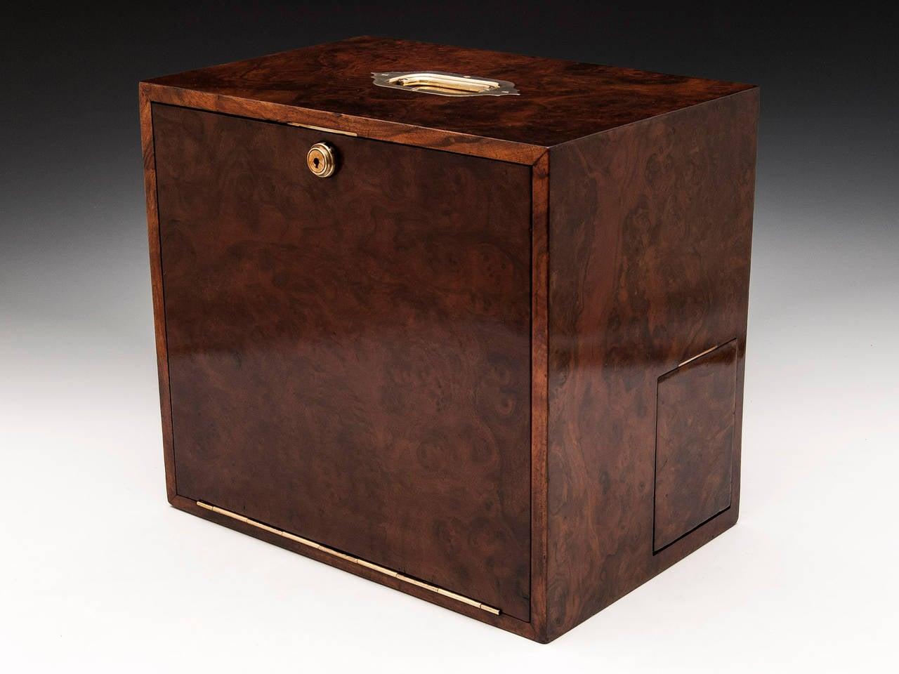 Burr walnut stationery box at stdibs
