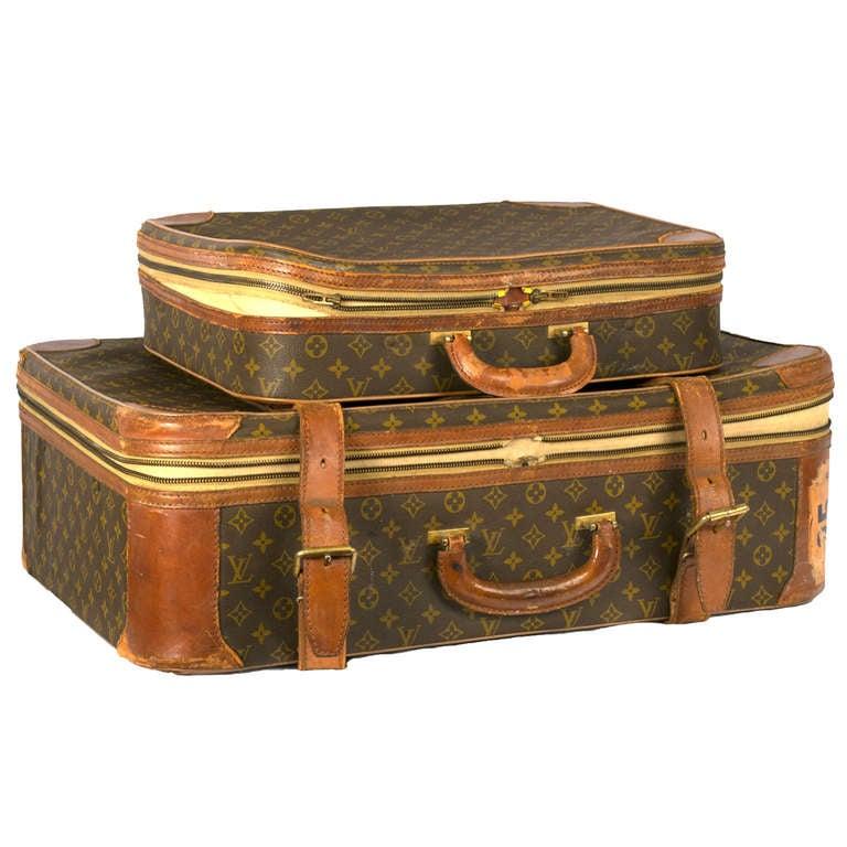 Set Of Vintage Louis Vuitton Luggage At 1stdibs