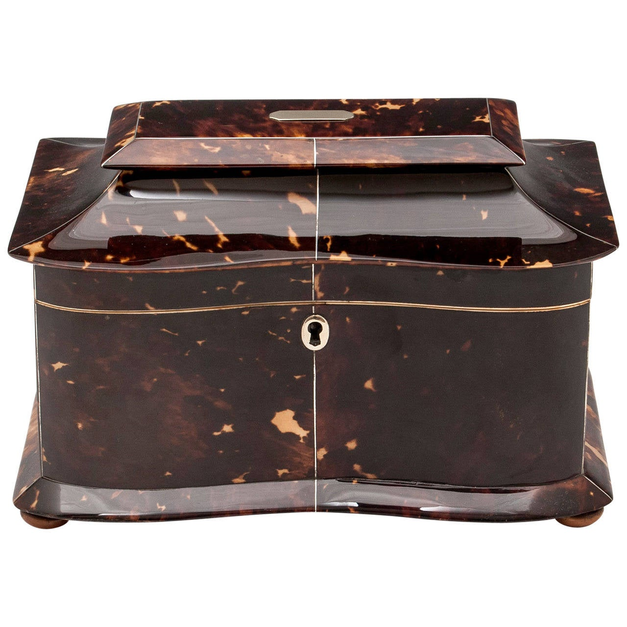 Regency Tortoiseshell Tea Caddy For Sale