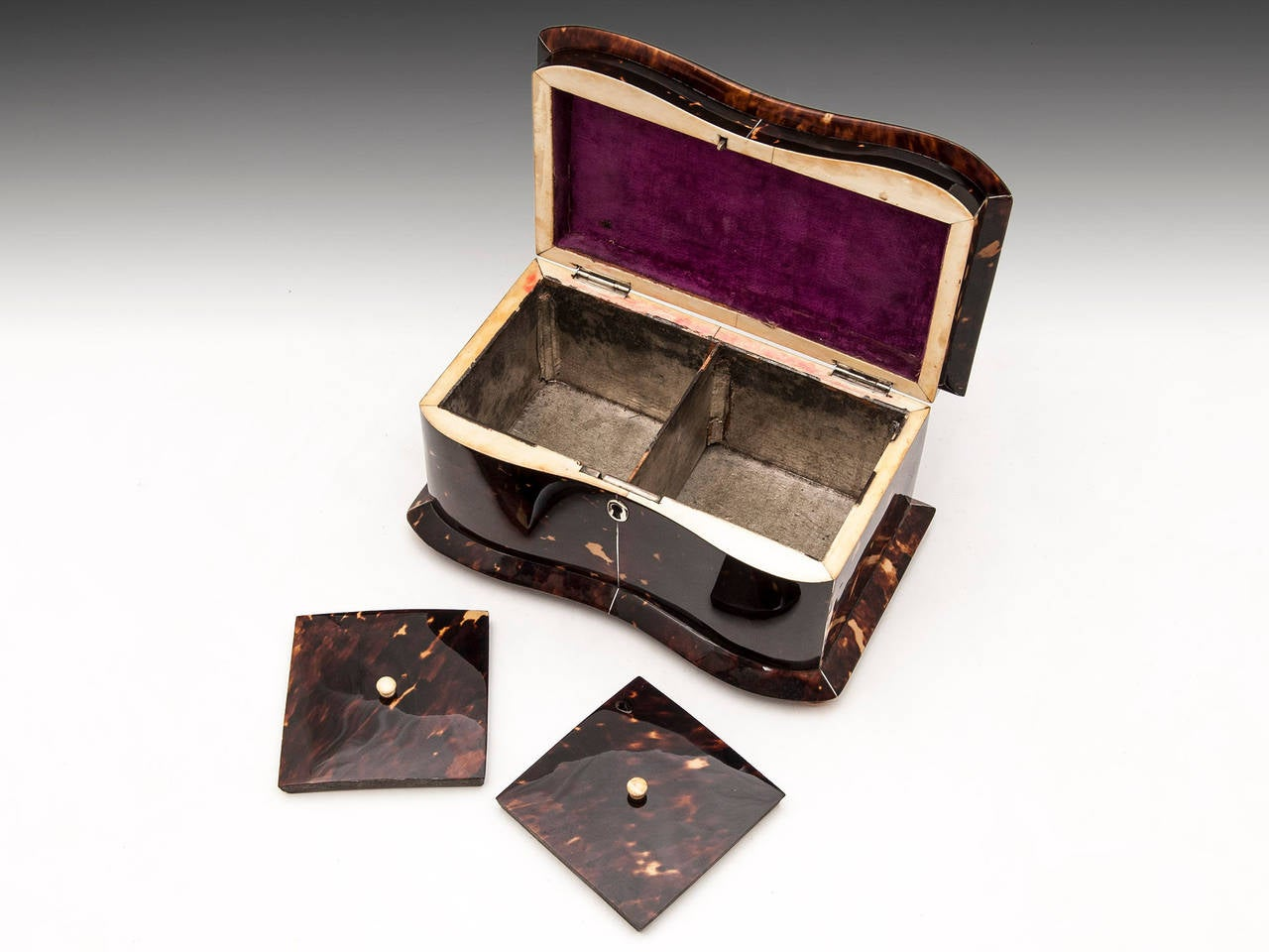 Regency Tortoiseshell Tea Caddy For Sale 3