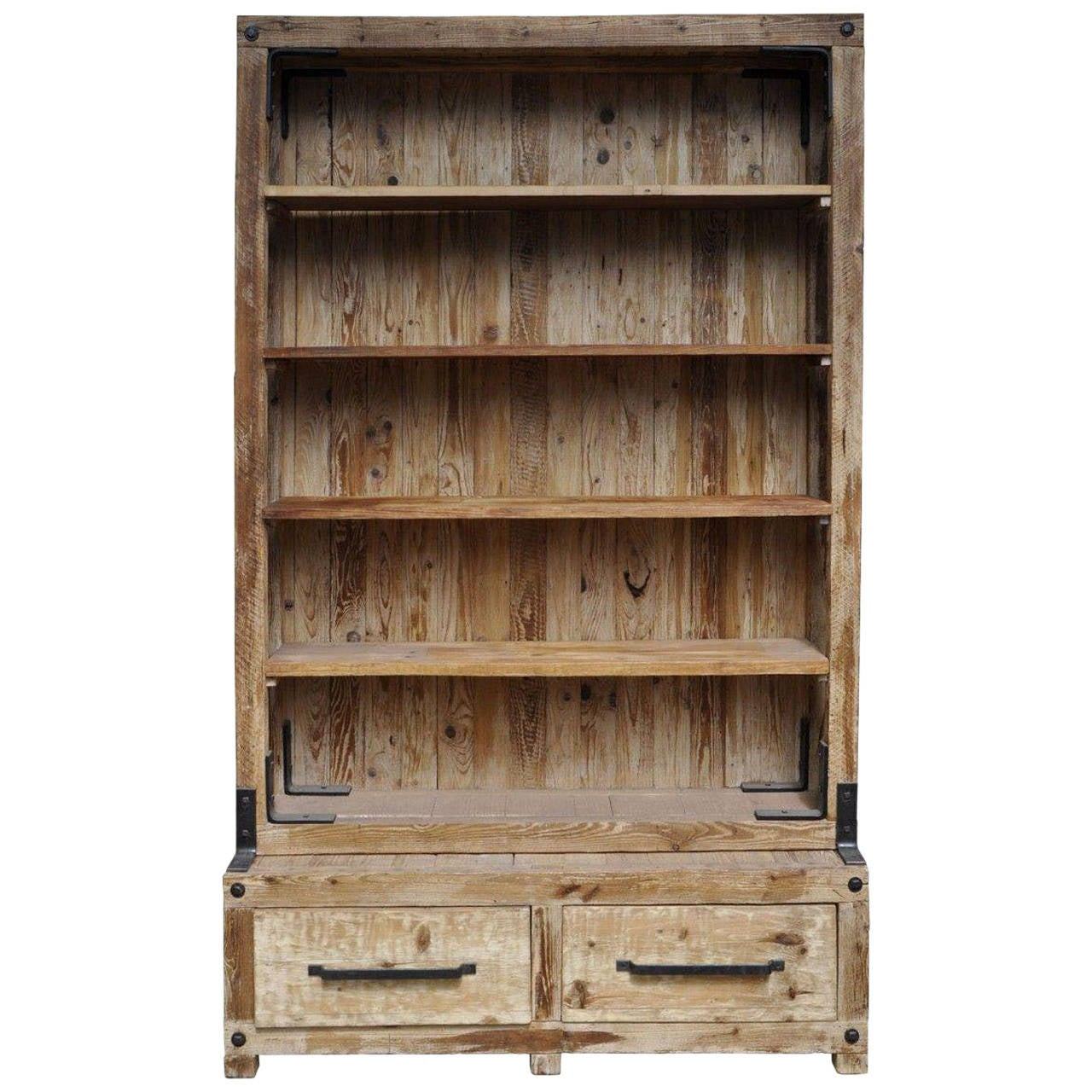 Superb img of Antique Wooden Shelf With Bottom Drawers at 1stdibs with #8C693F color and 1280x1280 pixels