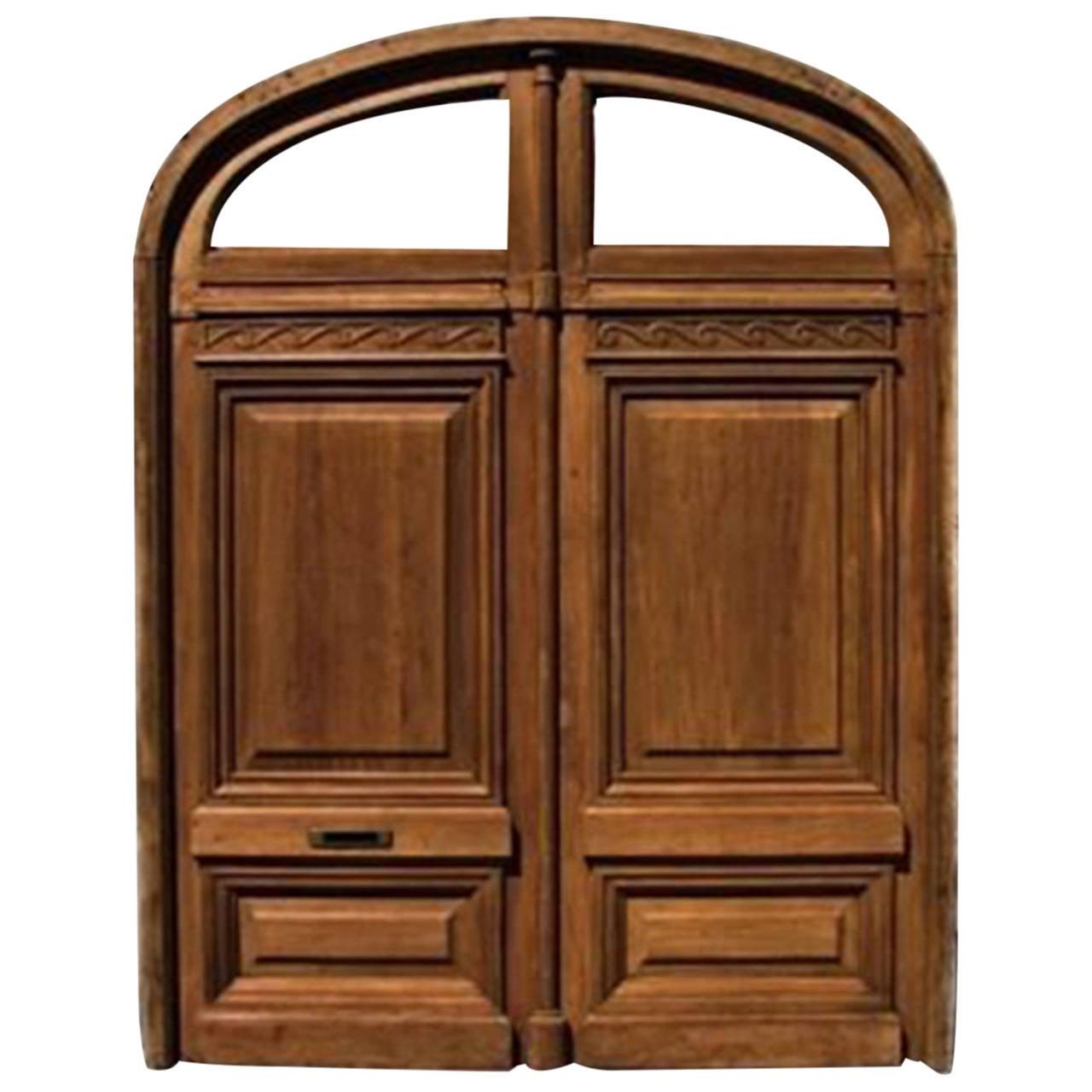 1280 #35190D Antique Double Front Door At 1stdibs save image Vintage Exterior Doors 41071280