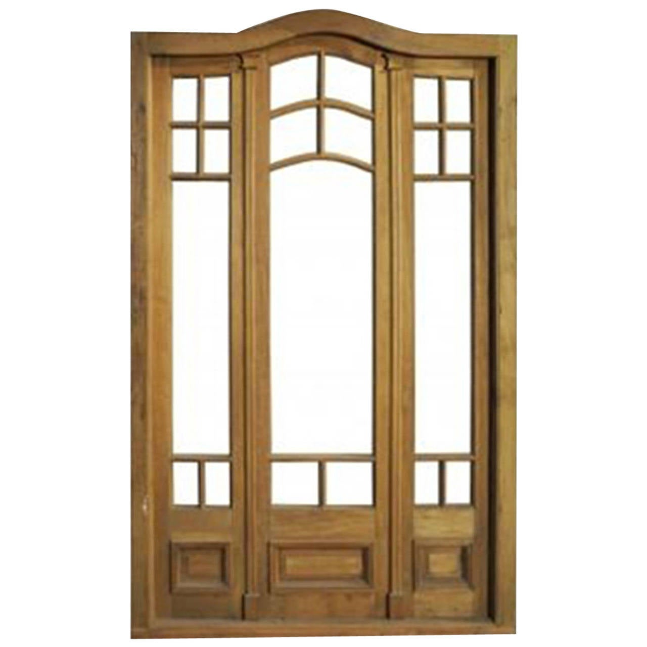 Antique triple french patio door at 1stdibs for Triple french doors exterior