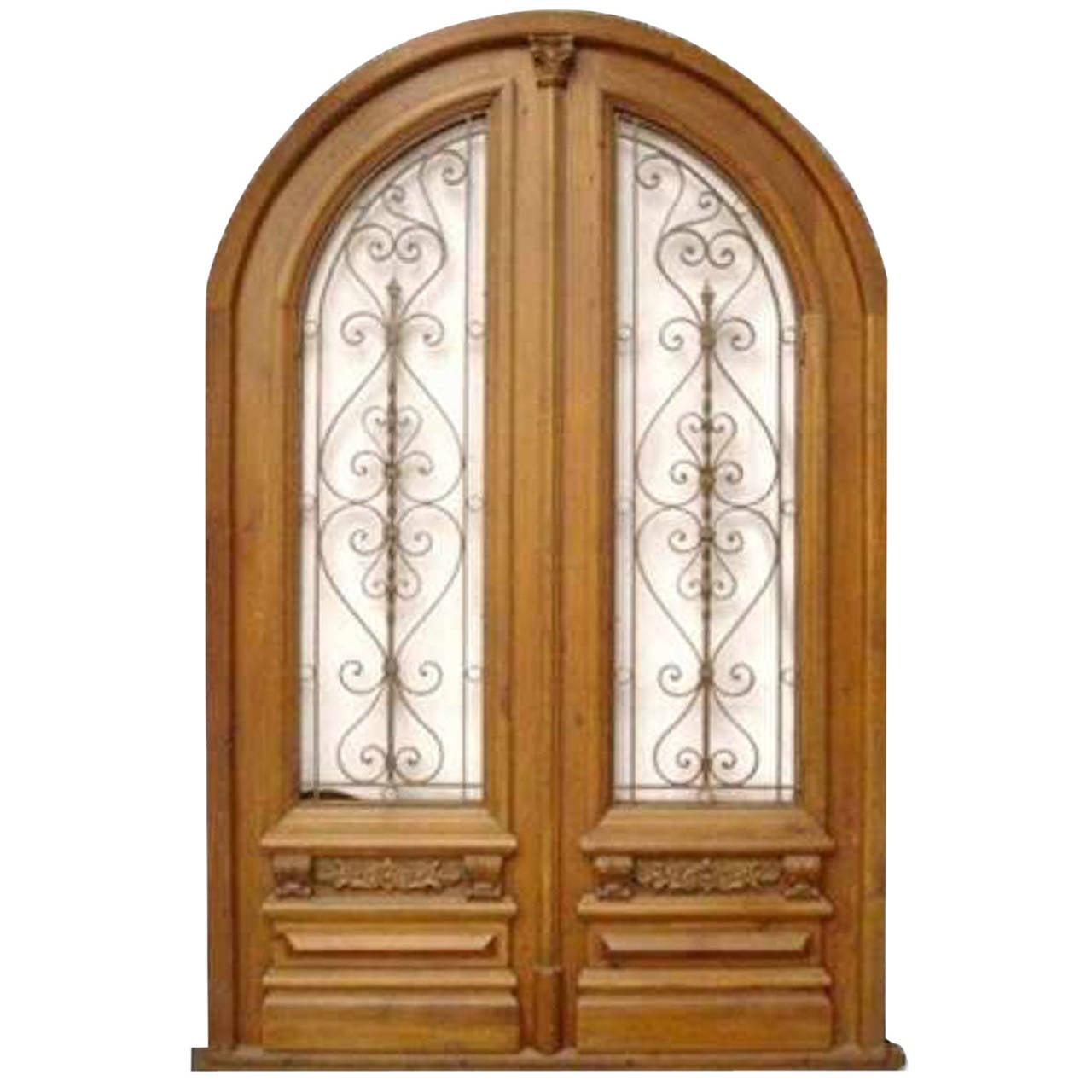 1280 #4B2107 Antique Arched Double Entry Door Offered By Amighini Architectural  save image Arch Doors Exterior 39771280
