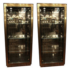 Pair of Mid-Century Modern Mastercraft Display Cabinets